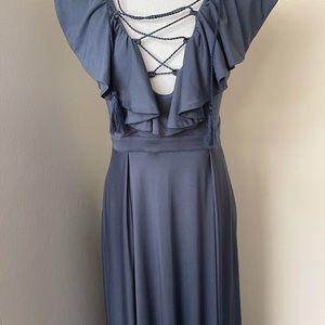 L Atiste blue dress SZ M